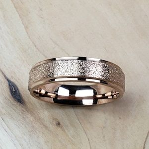 Rose Gold 6mm Sparkle Band Ring